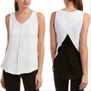 Cabi Split Back Domino Top Sleeveless XL